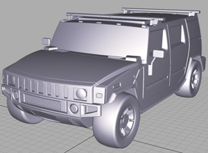 product design training at design engine - 3D Hummer Model