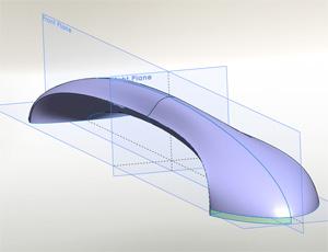 Solidworks Surfacing class model fridge handle