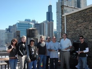 Rooftop grilling at Design-engine's west loop rooftop