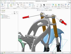 Creo mechanism dynamics training Suzuki GSXR 600 motorcycle