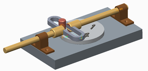 Creo Scotch Yoke Mechanism