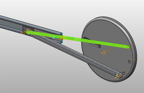 Creo Slider Mechanism example using springs & Dampener