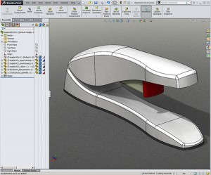 Solidworks Stapler created with Top Down Design