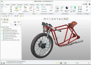 Janus Motorcycle Creo Advanced Assembly AAX