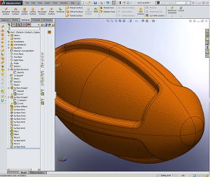 Solidworks dogie football toy