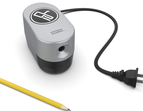 Design Engine pencil sharpener and pencil